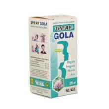 Gola Spray Tongil es un complemento alimenticoque proporciona alivio y frescor a las gargantas irritadas, protegiéndolas de las agresiones diarias. Apto para vegetarianos.