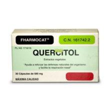 Quercitol es un complemento alimenticio a base de quercitina, bromelina y extractos de plantas que ayuda a reforzar las defensas naturales del organismo y facilita la respiración nasal.