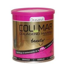 Collmar beauty es un complemento alimenticio a base de colágeno marino, ácido hialurónico, granada, borraja y onagra.