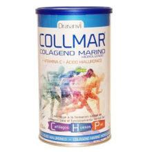 Collmar es un complemento alimenticio a base de colágeno, ácido hialurónico y vitamina C.