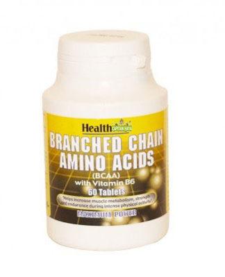 BCAA Aminoacidos Ramificados Health Aid (Branched Chain Amino Acids) es un complemento alimenticio a base de L-leucina,L-Isoleucina,L-Valina y Vitamina B6.