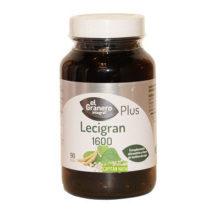 Lecigran 1600 Lecitina se soja El Granero Integral es un complemento alimenticio a base de Lecitina de Soja. La Lecitina de Soja contribuye a mejorar los niveles de colesterol en sangre y la circulación sanguínea.