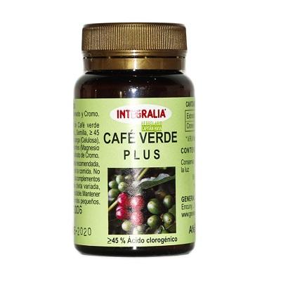 Cafe Verde Plus Integralia es un complemento alimenticio a base de estracto de café verde y cromo.