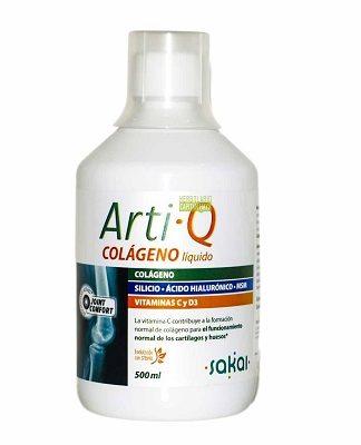 Arti-Q Sakai es un complemento alimenticio formulado con péptidos de colágeno hidrolizado de elevada biodisponibilidad, Ácido hialurónico, Silicio orgánico vegetal, MSM y Vitaminas C y D3, ayuda a cuidar las articulaciones para mejorar la calidad de vida.