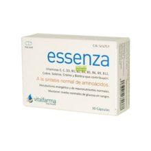 Essenza Vitalfarma es un complemento alimentico que contribuyen a la síntesis normal de aminoácidos, al metabolismo energético y de macronutrientes. Ayuda a mantener los niveles normales de glucosa en sangre.