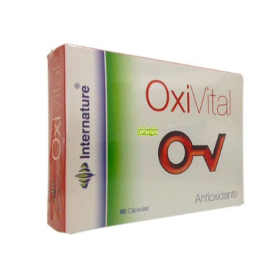Oxivital Internature es un complemento aliemnticio a base de extractos vegetales, vitaminas y minerales.