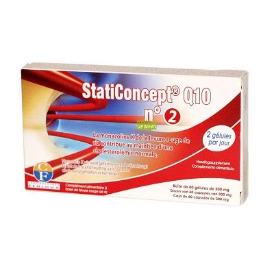 Staticoncept Q10 N2 es un complemento alimenticio a base de levadura de arroz rojo, Policosanol y Coencima Q10.