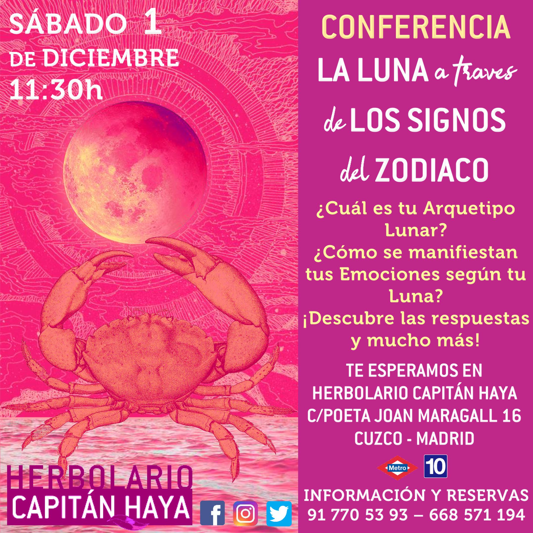 Conferencia signos del zodiaco