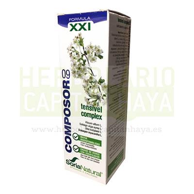 COMPOSOR 09 TENSIVEL COMPLEXes una mezcla de extractos fluidos y liofilizados de plantas medicinales en un vehículo de glicerina vegetal.