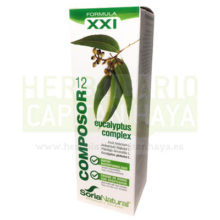 COMPOSOR 12 EUCALYPTUS COMPLEXes un complemento alimenticio a base de una combinación de plantas con acción expectorante, antitusiva, antiséptica, emoliente, antiinflamatoria, broncodilatadora, diurética y estimulante hepático-biliar indicado en casos de afecciones respiratorias de vías bajas como bronquitis crónica y aguda.
