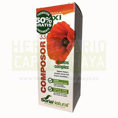 COMPOSOR 33 DOXITOS COMPLEXes un complemento alimenticio que ayuda a mejorar los síntomas asociados a las afecciones respiratorias.