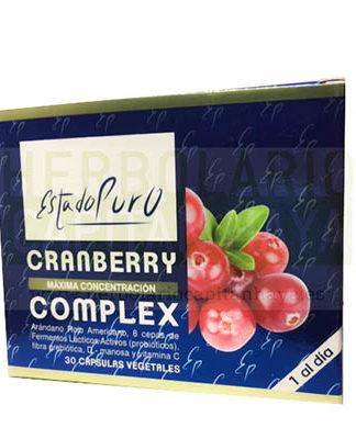 CRANBERRY COMPLEX ESTADO PURO TONGILes un complemento alimenticio con arándano rojo americano, 8 cepas de fermentos lácticos activos (probióticos) , fibra prebiótica, D-manosa y Vitamina C.