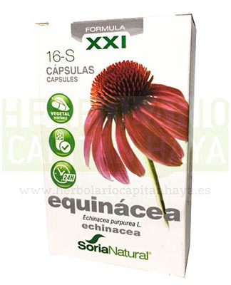 EQUINACEA CAPSULAS SORIA NATURALEQUINACEA CAPSULAS SORIA NATURALes un complemento alimenticio que estimula las defensas naturales del organismo gracias a su actividad antimicrobiana.
