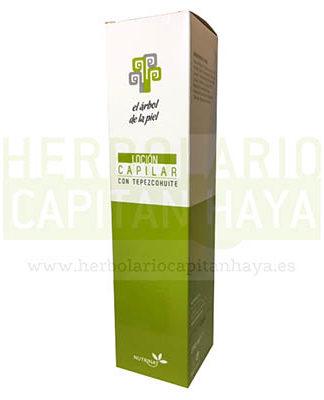 LOCION CAPILAR CON TEPEZHUITEpuede ser utilizada en todo tipo de cabellos, proporcionando al cabello fuerza y consistencia.