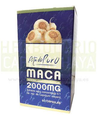 MACA ESTADO PURO TONGILes un complemento alimenticio a base extracto seco concentrado 5: 1 de raiz de Lepidium meyenii.