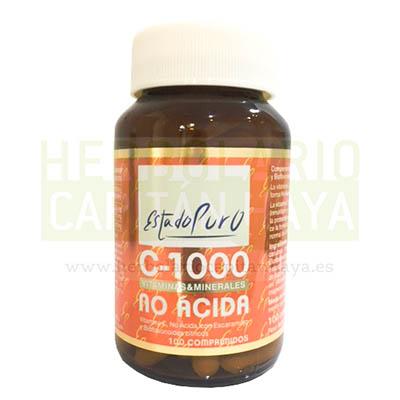 VITAMINA C 1000 ESTADO PURO TONGIL no ácida con Escaramujo y Bioflavonoides cítricos.