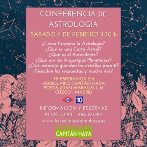 CONFERENCIA DE ASTROLOGÍA | 09/02/19 | 11:30