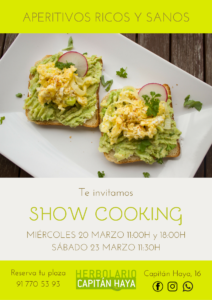 SHOW COOKING | 20/03/19 | 11:30 Y 18:00H 23/03/2019 | 11:30H