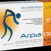 Arpagodol Glauber Pharma es un complemento alimenticio de Harpagofito beneficioso para el sistema esquelético.