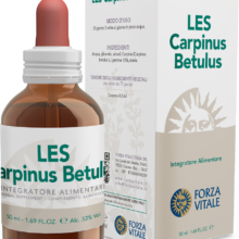 LES CARPINUS BETULUS FORZA VITALE LES Carpinus betulus Forza Vitale es un complemento alimenticio de yemoderivados de Carpino que favorece el bienestar de las vías respiratorias altas.
