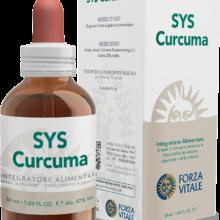 SYS CURCUMA FORZA VITALE SYS Curcuma Forza Vitale es un complemento alimenticio a base de Cúrcuma que favorece la funcionalidad del sistema digestivo y el bienestar de la vesícula biliar.