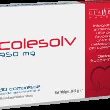 Colesolv Glauber Pharma es un complemento alimenticio deArroz rojo fermentado y Alcachofera útil para favorecer el correcto metabolismo del colesterol.