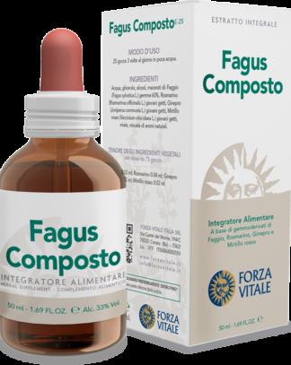 Fagus composto Forza Vitale es un complemento alimenticio a base yemoderivados de Haya, Romero y Enebro.