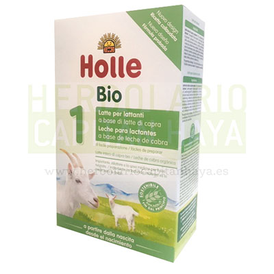Leche de Cabra 1 Holle es una leche de cabra ecológica cuya fórmula es apropiada desde el nacimiento del bebé.