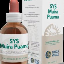 SYS MUIRA PUAMA FORZA VITALE SYS Muira puama Forza Vitale es un complemento alimenticio tónico y antioxidante.