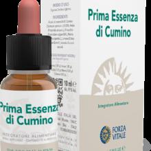 PE Cumino Forza Vitale es un complemento alimenticio de aceites esenciales que actúa sobre el bienestar del estómago.