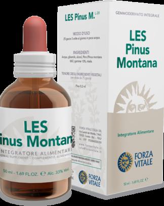 LES PINUS MONTANA FORZA VITALE LES Pinus montana Forza Vitale es un complemento alimenticio de yemoderivados de Pino que actúa favorablemente sobre el fisiológico bienestar del sistema articular.