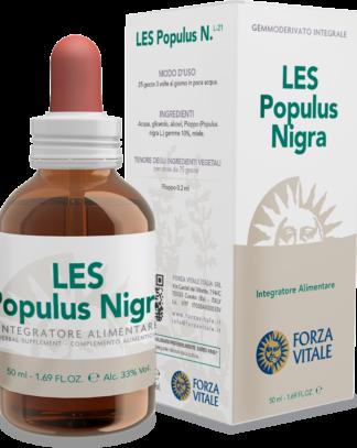 LES POPULUS NIGRA FORZA VITALE LES Populus nigra Forza Vitale es un complemento alimenticio de yemoderivados de Chopo que favorece el fisiológico bienestar del aparato circularorio.