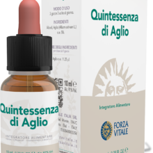 QE Aglio Forza Vitale es un complemento alimenticio de aceite esencial de Ajo que favorece la funcionalidad del aparato cardiovascular.