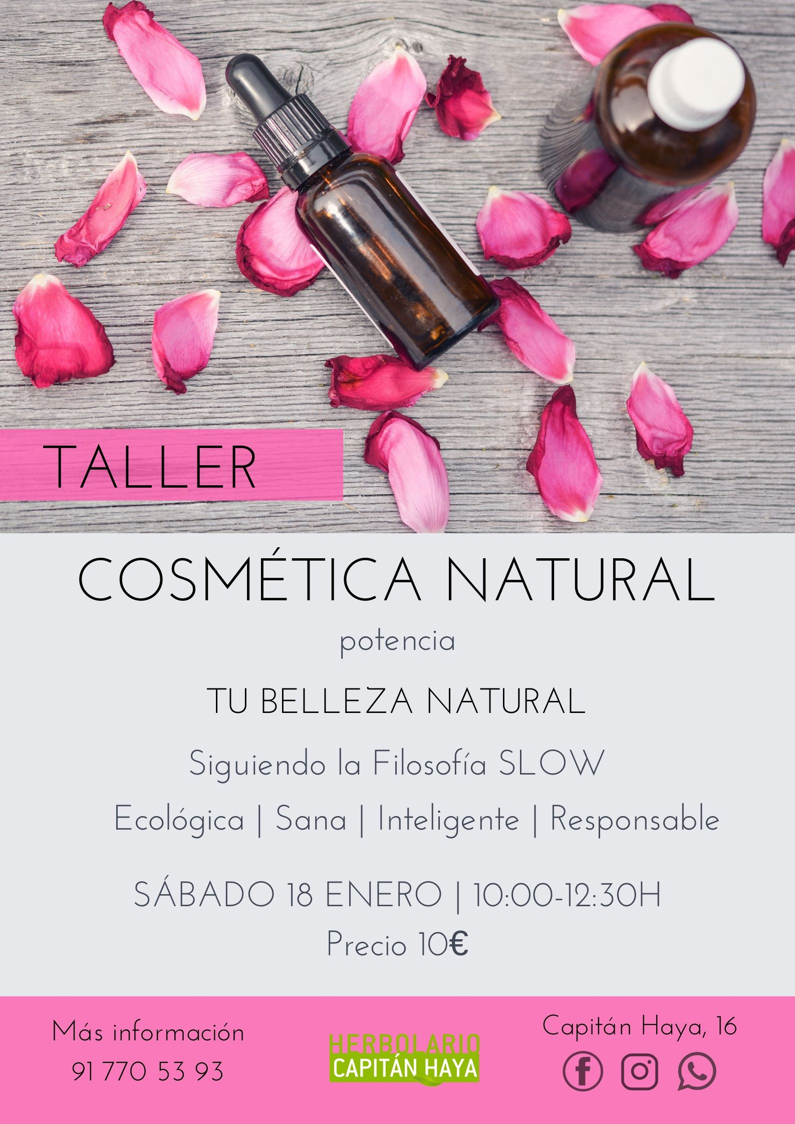 TALLER COSMETICA NATURAL