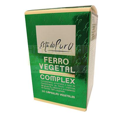 Ferro vegetal complex Estado Puro Tongil es un complemento alimenticio principalmente indicado para ayudar a prevenir las anemias ferropénicas. Aporta vitalidad y resistencia.