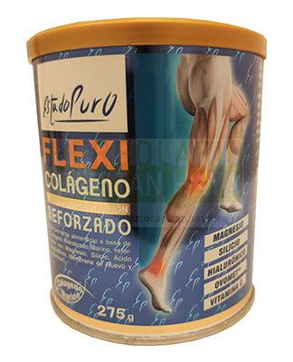 Flexicolageno reforzdo Estado Puro Tongil es un complemento alimenticio que contribuye al normal funcionamiento de los músculos y huesos. Ayuda a reducir el cansancio y la fatiga, contribuye al equilibrio electrolítico y al normal metabolismo energético.
