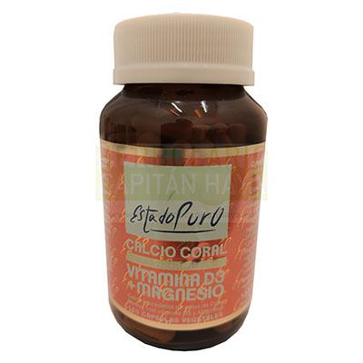 Calcio coral + vitamina D3+ magnesio Estado Puro Tongil es un complemento alimenticio que ayuda al mantenimiento del sistema óseo y muscular en condiciones normales.