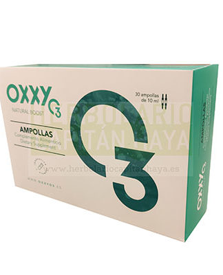 Oxxy O3 ampollas es un complemento alimenticio a base de olea europaea e inulina.