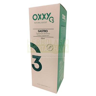 Oxxy O3 gastro es un complemento alimenticio que ayuda a fortalecer la digestión, contribuye a la función normal del tracto intestinal, ayuda a soportar el flujo del jugo gástrico, ayudando en la flatulencia y el espasmo del vientre.