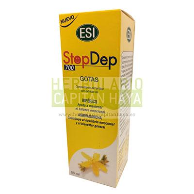 Stop Dep gotas 50 ml Esi-Trepadiet es un complemento alimenticio con extracto de Hipérico y Ashwagandha. Con acción antidepresiva y adaptógena. Sabor a manzana roja.